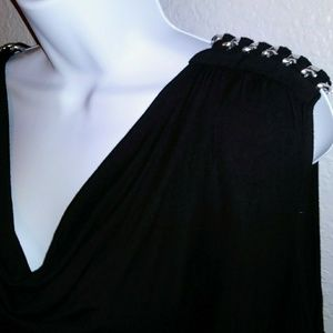 Michael Kors black sleeveless w/ chain-XL